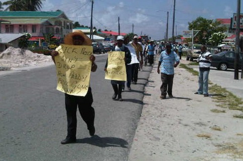 Essequibo rice farmers protest
