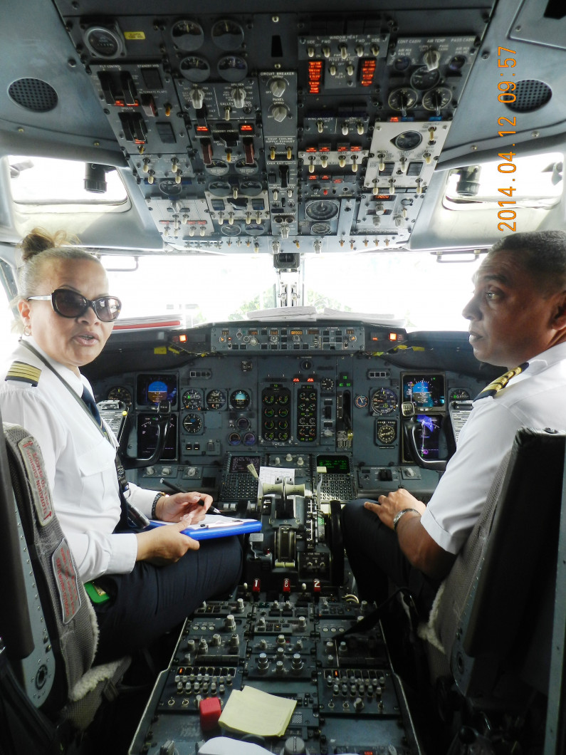 Suriname's first female 737 pilot is living a dream