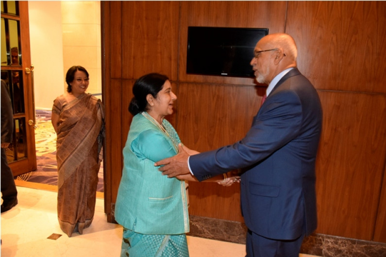 President Ramotar begins  official state visit to India