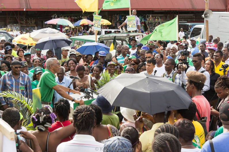 "APNU+AFC launches ""People's Manifesto"" at Stabroek Square with emphasis on fighting poverty and tackling corrip"