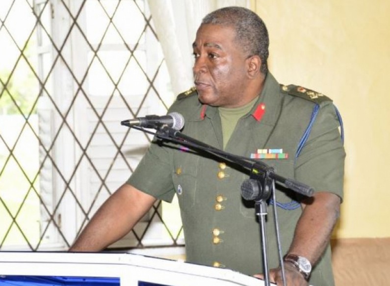Brigadier Phillips briefs troops on GDF role following PPP attacks