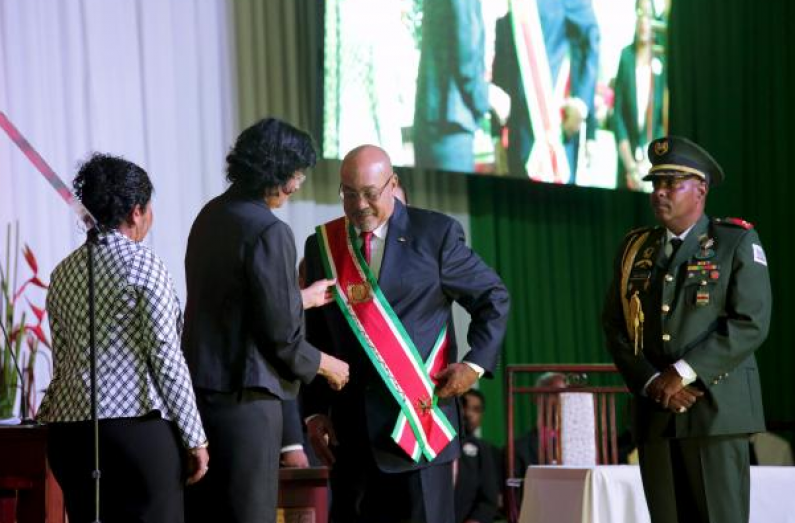 Suriname's Bouterse sworn in for second presidential term