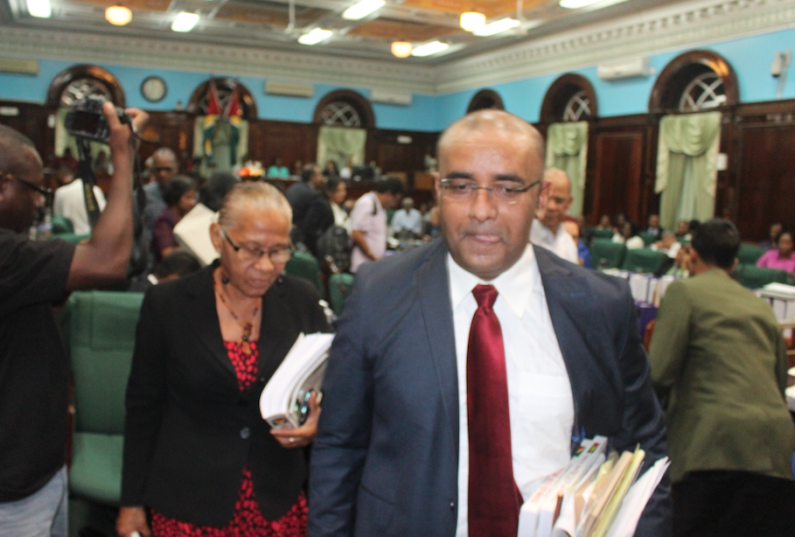 """Jagdeo leads walk out of budget debates after declaring """"flawed"""" budget will flatline economy"""