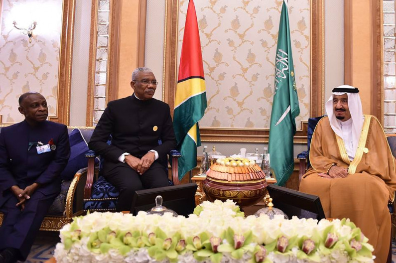 President Granger raises need to peacefully settle disputes at Arab and South American Summit