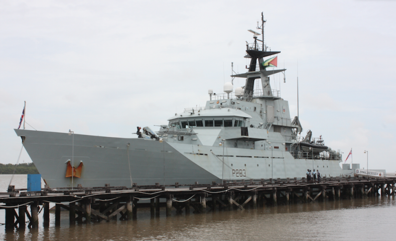 British Navy ship makes Guyana stop during military strengthening mission