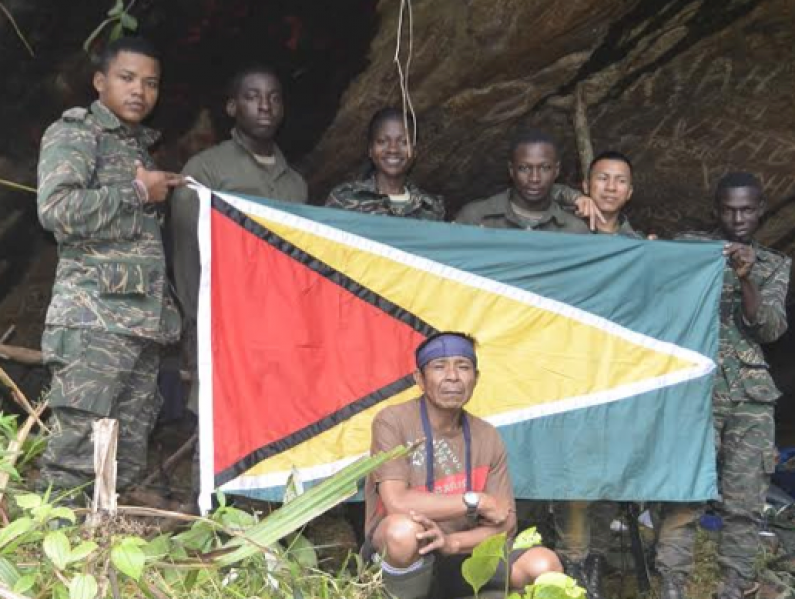 GDF patrol returns after successful hoisting of flag at Mount Ayanganna