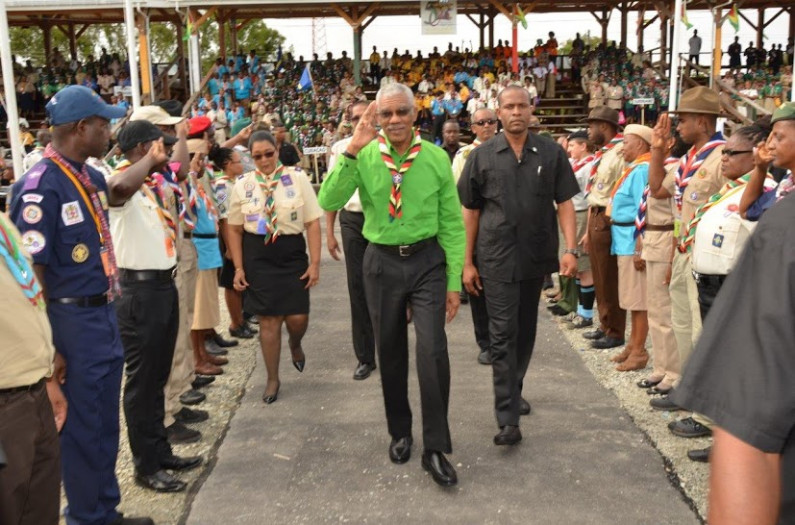 President Granger embraces youth development as Scouts gather for 14th Caribbean Cuboree