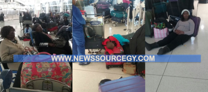 Hundreds of Guyanese passengers forced to camp out at JFK as Dynamic hits maintenance snag