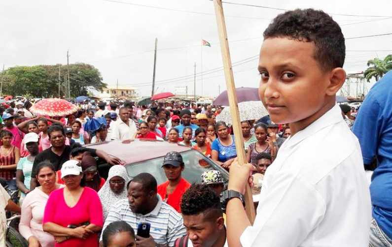 Rose Hall residents join sugar workers in massive protest against proposed estate closure