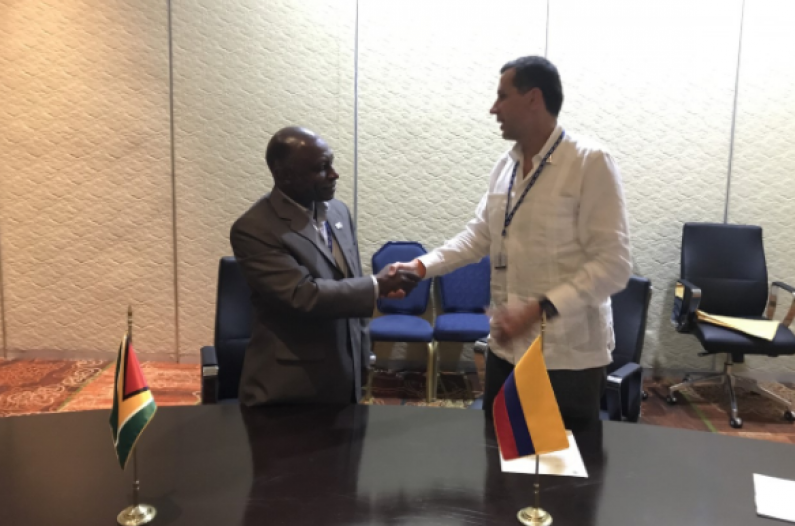 Visa free travel agreement inked between Guyana and Colombia