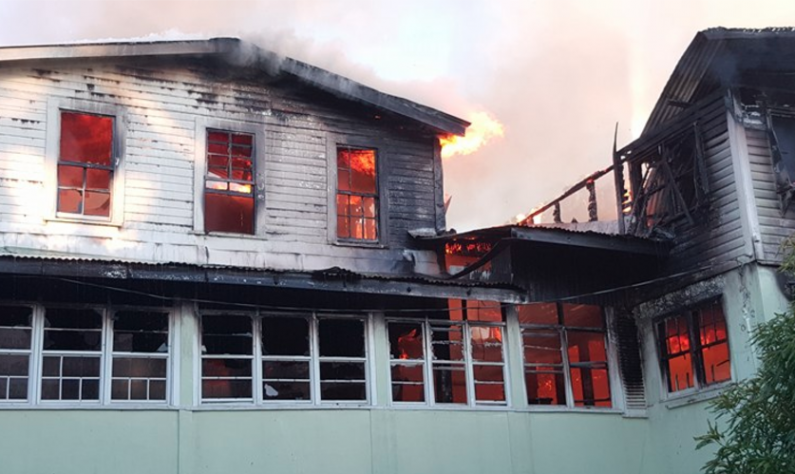 Early morning fire guts building owned by activist Jocelyn Dow