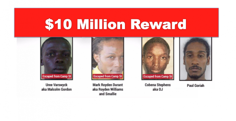 $10 Million reward offered for information leading to arrest of remaining prison escapees