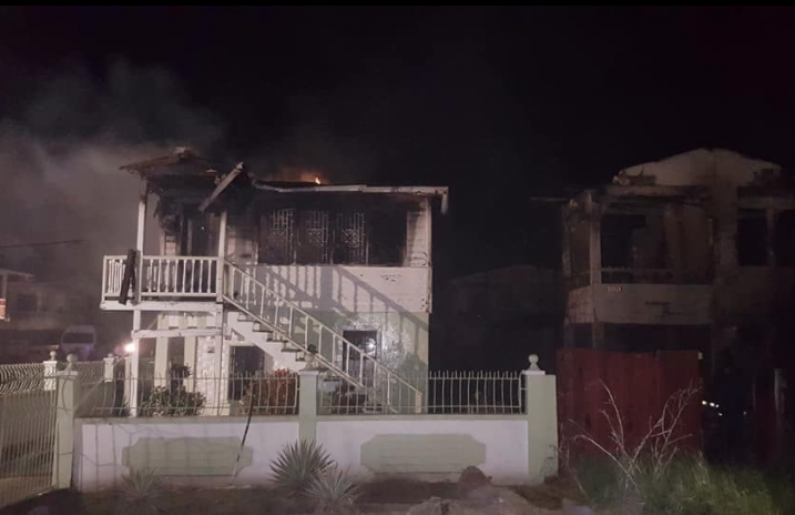 Two houses destroyed by fire set by abusive husband during row
