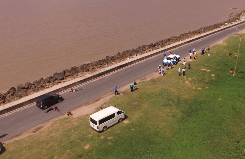 Two of the suspected bandits killed on seawalls were shot six times each