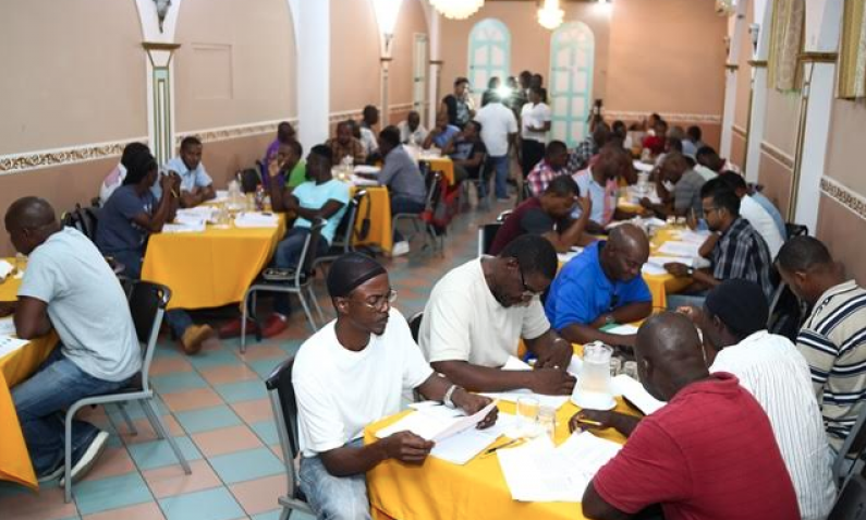 Guyanese mariners being trained in occupational safety for jobs in the oil and gas industry