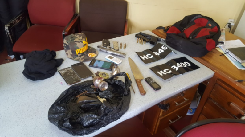 Five men nabbed in car with illegal guns and fake number plates