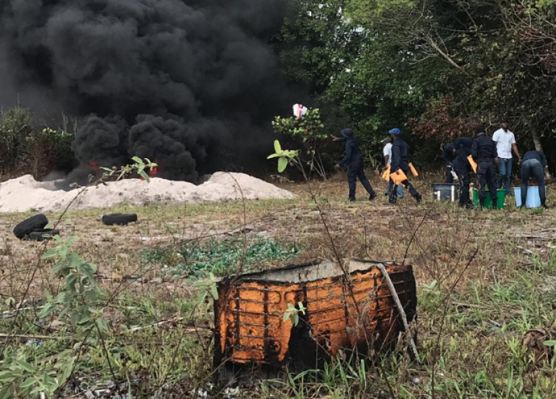 CANU and Police destroy over $500 Million worth of cocaine and marijuana