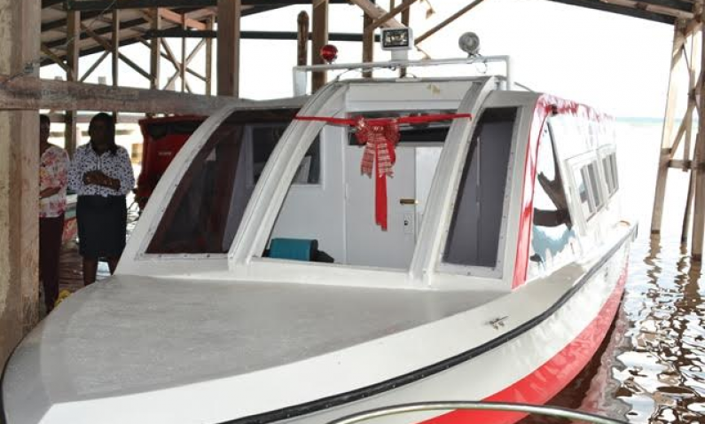 Bartica gets river ambulance to assist with emergency referrals