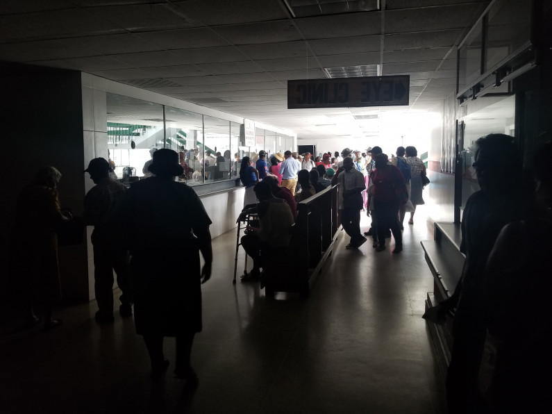 Internal power supply problem leaves parts of Georgetown Hospital in darkness; Emergency Services not affected
