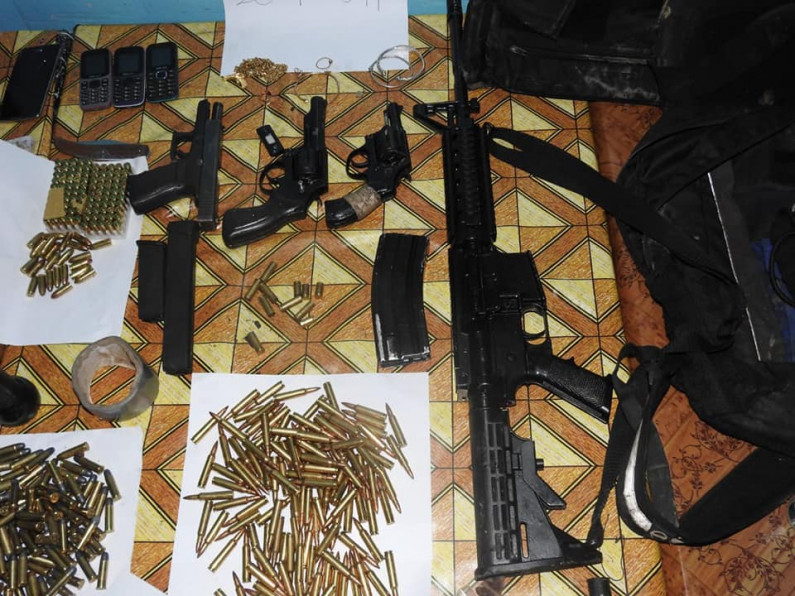 Weapons, hundreds of ammunition, bullet-proof vests and cash found in possession of dead Berbice Bandits