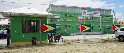 Govt. Commissions $186 Million Tertiary Education Dorm at Lilliendaal for Hinterland students