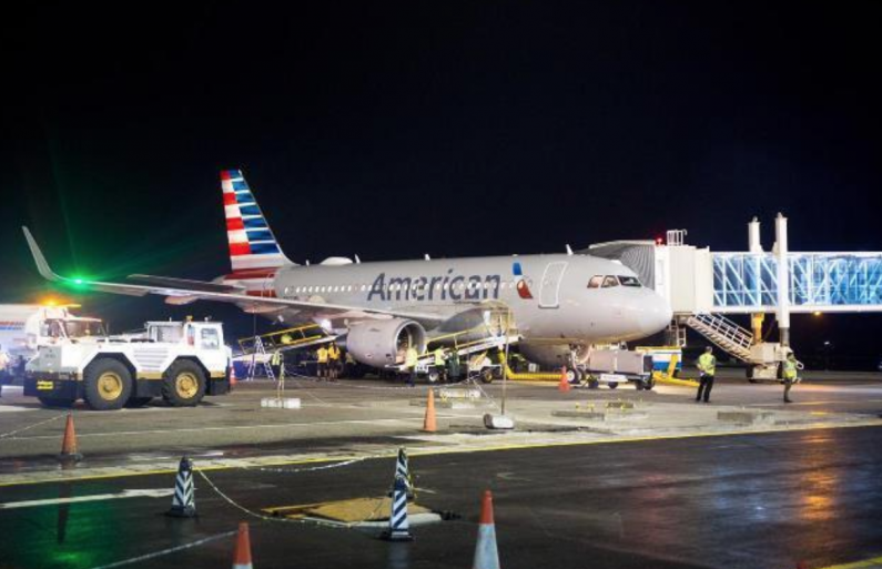 AA flight diverted to Trinidad over runway lights issue at CJIA; Problem rectified
