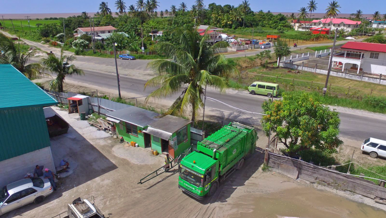 Some Garbage collection trucks stranded on West Demerara; Several city areas affected