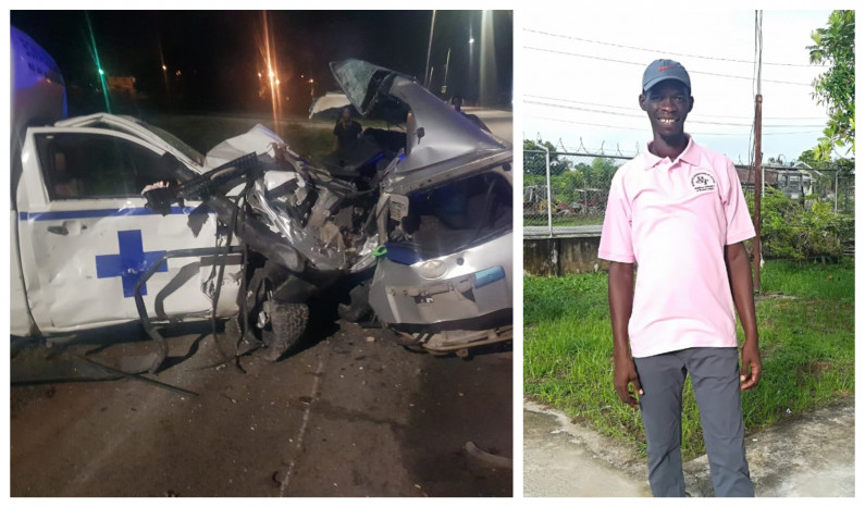 Two die, including male nurse as Ambulance and Car, collide at Amelia's Ward in Linden