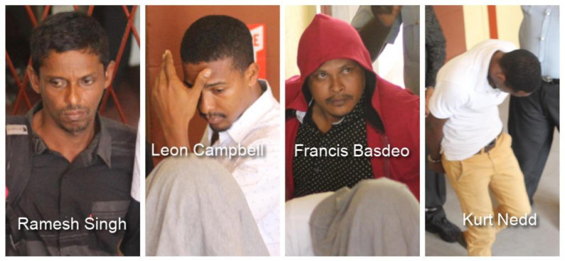 Matthew's Ridge Gold Heist suspects charged and remanded to jail