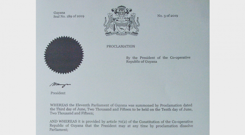 President issues Proclamation for dissolution of Parliament and Regional Councils