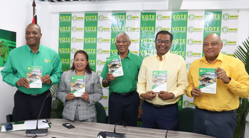 APNU+AFC pushes social programmes, education, youth and economic development in manifesto
