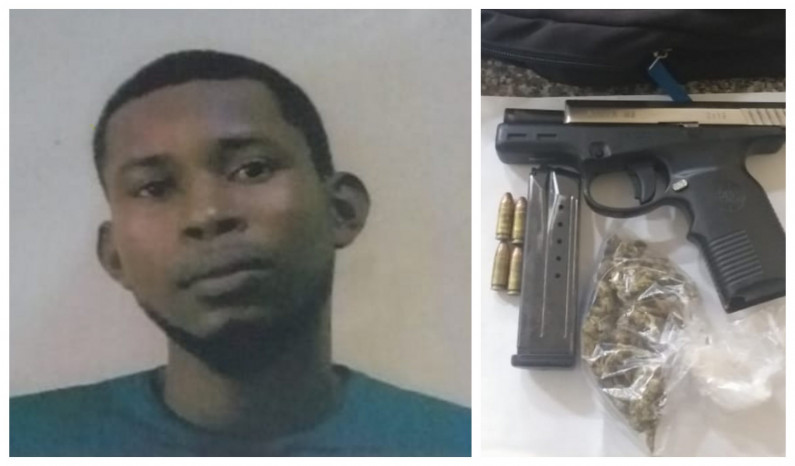 Wanted man nabbed with gun and ammunition in Amelia's Ward house