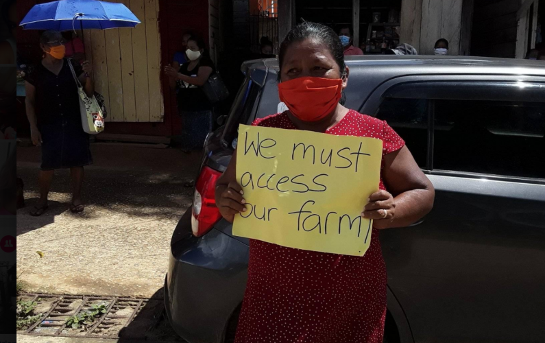 Moruca residents stage protest against COVID-19 community lockdown