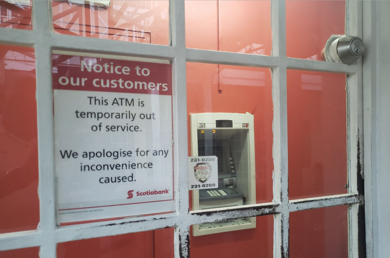Bandits fail in attempt to cart off Scotia Bank ATM