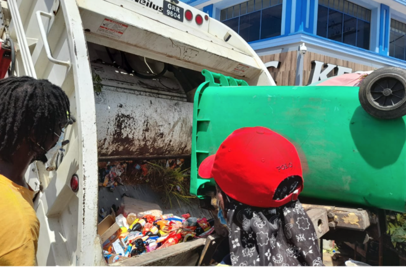 Hundreds of expired goods seized and dumped at Stabroek Market