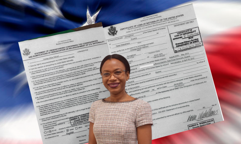 Minister Walrond renounced US Citizenship after swearing-in as MP.  -Embassy documents confirm