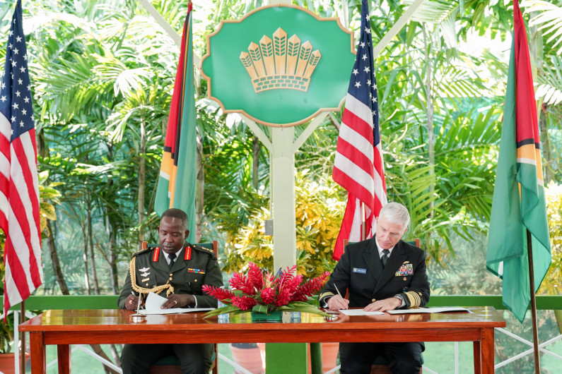 Guyana and US ink military cooperation agreement