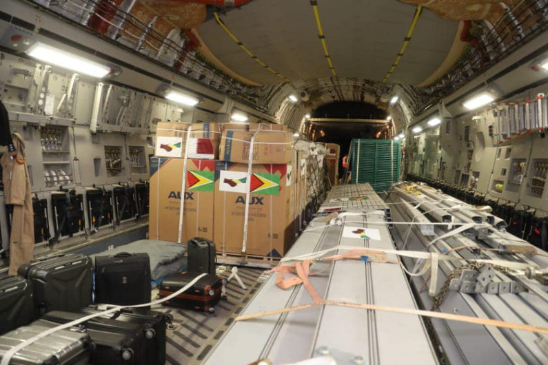 Guyana receives field hospital from Qatar