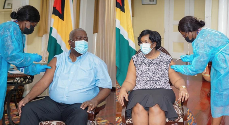Prime Minister and wife receive COVID-19 vaccines