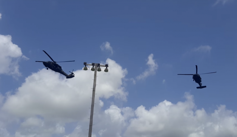 Military helicopters are part of multi-national training exercise; Don't be alarmed -GDF