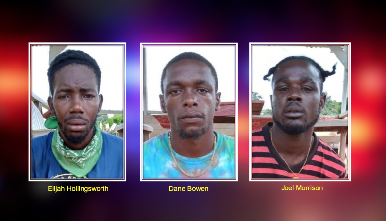 Three remanded for armed robbery of Rockstone businesswoman