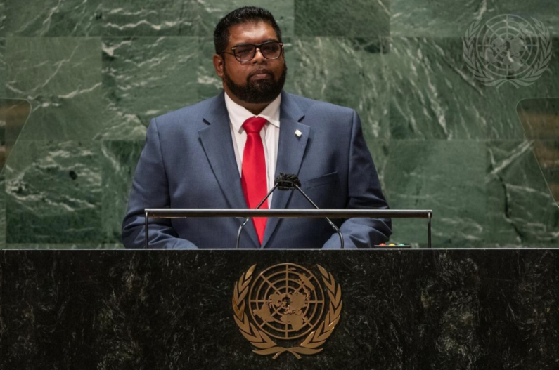 President calls global attention to Venezuela's latest claim to Essequibo in UN General Assembly address