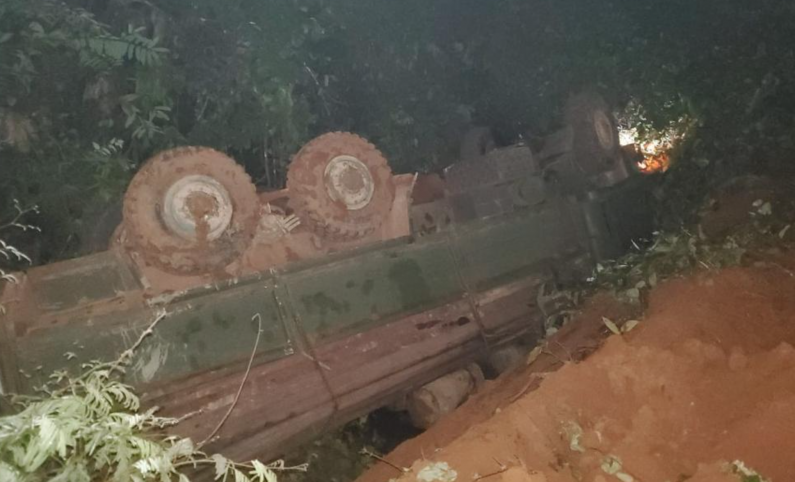 Driver and Porter die as truck turns over at Buckhall