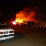 Woman pulled to safety as fire guts Berbice business and home
