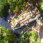 Woman and Baby killed as bus plunges off bridge