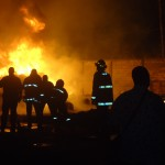 Fire guts section of Comfort S...
