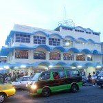 Footsteps walks into the hustle and bustle of Stabroek Square