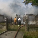 Crane fire leaves 8 persons homeless