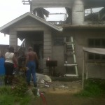 East Coast fire leaves family homeless