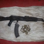 Men drop AK-47 and ammo and speed away from Cops